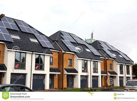 Home Design App With Roof new homes with solar power stock photo image 39840165