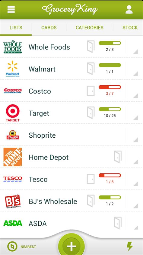 printable grocery list app grocery king shop list free android apps on google play