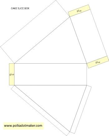 cake slice boxes template free template stuff to do