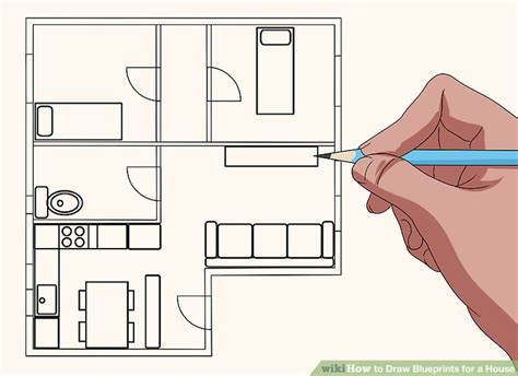 how to blueprints for a house how to draw blueprints for a house with pictures wikihow