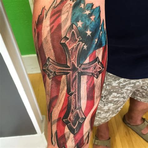 cross and flag tattoo 65 independent patriotic american flag tattoos i usa