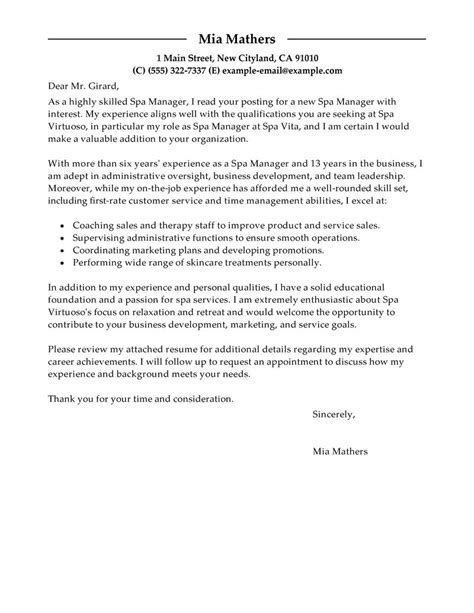 Leading Professional Manager Cover Letter Examples