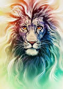 lion portrait kawiku deviantart