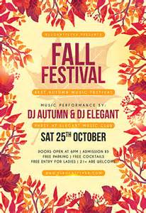 Fall Festival Flyer Templates Free by Autumn Flyer Psd Template Cover By