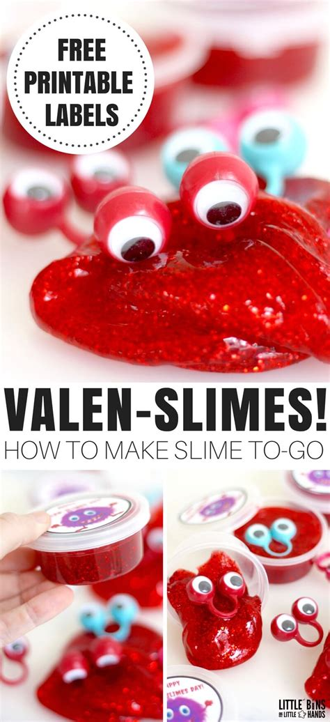 go valentines day valentines day slime recipe with free printable container