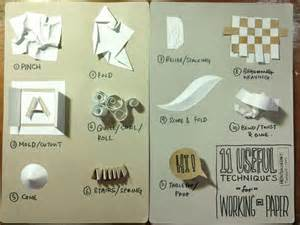 Papercraft Techniques - 11 common techniques used with paper sculpture papercraft