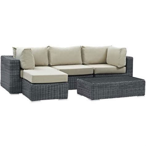 sunbrella sectional summon 5 piece outdoor patio sunbrella sectional set