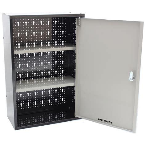 lockable metal garageshed storage cabinet wall unit tool