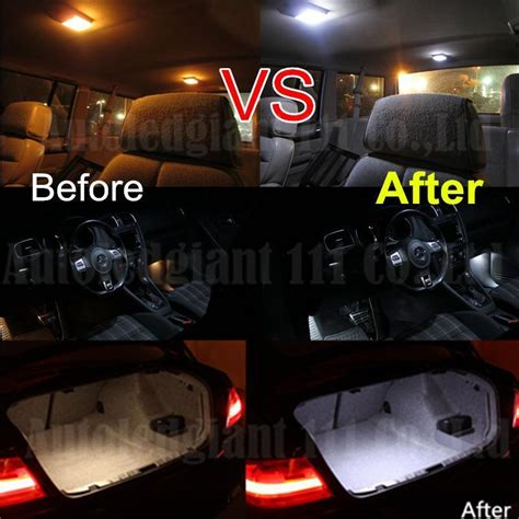 audi a3 led lighting package 14pcs white canbus dome footwell glove box trunk lighting