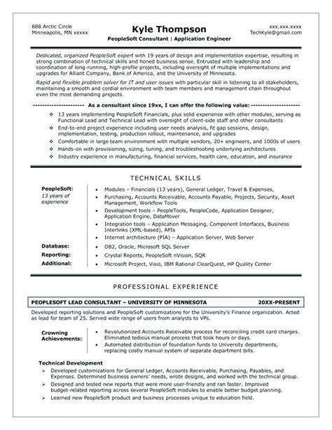 Peoplesoft Business Analyst Sle Resume by Peoplesoft Finance Functional Resume Resume Ideas