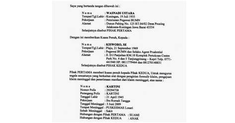 Contoh Surat Resmi Pengambilan Ijazah by Contoh Surat Kuasa Khusus Pengambilan Dokumen Ijazah