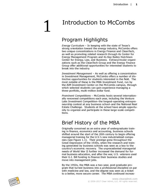 Mccombs Mba by School Guide Mccombs School Of Business