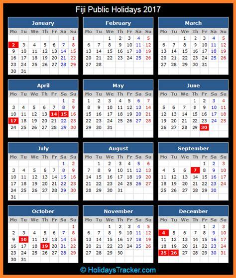 Fiji Calend 2018 Fiji Holidays 2017 Holidays Tracker