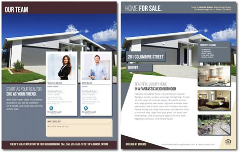 contemporary quot home for sale quot brochure with team branding