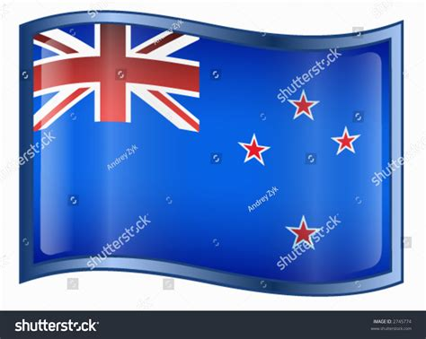 Email Address Search Nz New Zealand Flag Icon Stock Vector Illustration 2745774