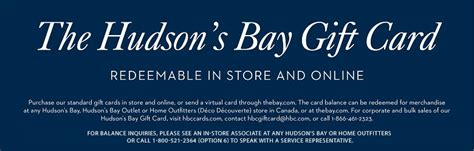 hudson s bay gift cards hudson s bay - Hudson Bay Gift Card Balance Online