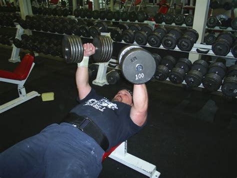100 pound bench press training photos