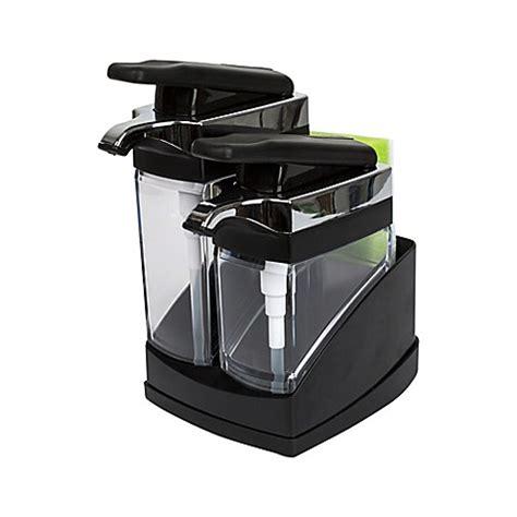 sink sider soap dispenser buy casabella 174 sink sider duo dispenser with sponge in