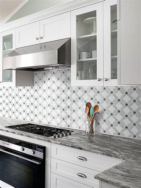 white gray marble mix backsplash tile backsplash