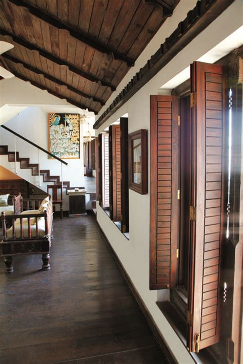 traditional wooden windows indian home interior