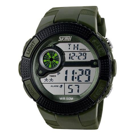 Jam Tangan Sport Pria Digital skmei jam tangan sport digital pria dg1027 army green
