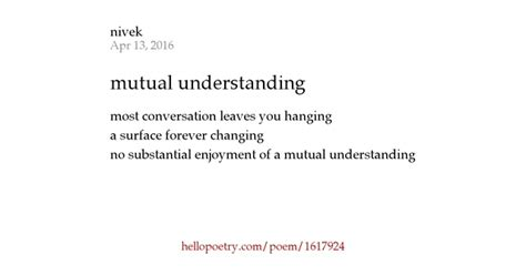 Hanging Pictures mutual understanding by nivek hello poetry