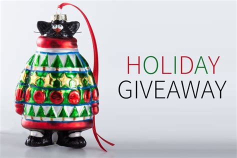 Cat Giveaway - artifacts holiday giveaway sweater cat ornament