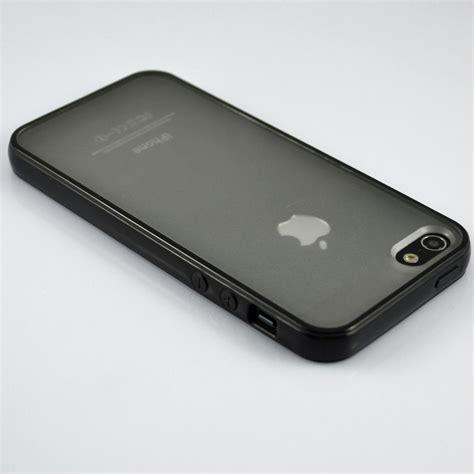 Slim Black Matte Utk Iphone 5 Se 5g 5s Plexibel Tpu black bumper with matte clear back cover for iphone 5