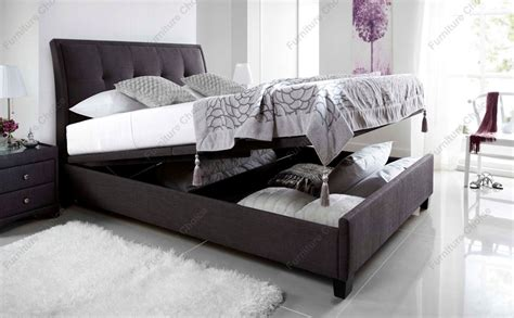 ottoman king size storage bed kaydian accent ottoman storage bed king size slate fabric only 163 829 99 furniture choice