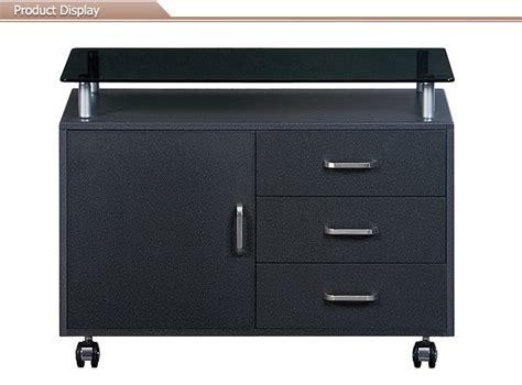 Black Glass Desktop Lateral Mobile Filing Cabinet With Mobile Lateral File Cabinet