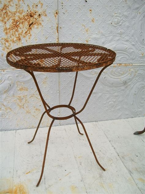 wrought iron patio side table 21 quot wrought iron side table patio furniture