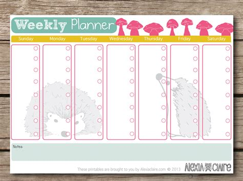 weekly monthly planner template 8 best images of printable weekly planners