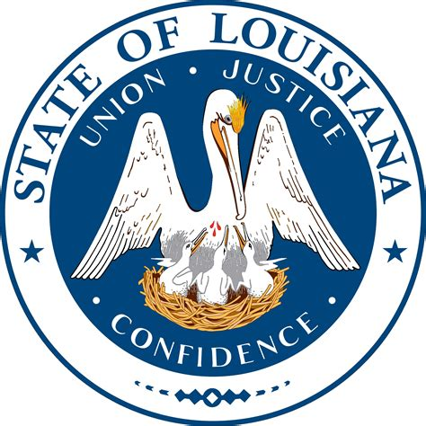 louisiana state colors state flag and seal