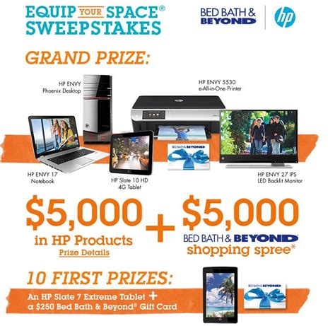 Bed Bath Beyond Sweepstakes - bed bath beyond equip your space sweepstakes