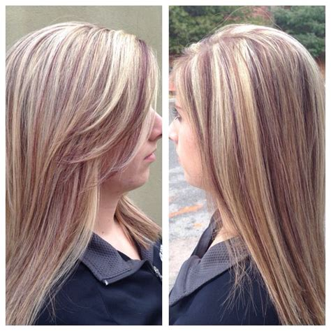 pictures of blended lowlights and highlights red and blonde highlights and lowlights red brown
