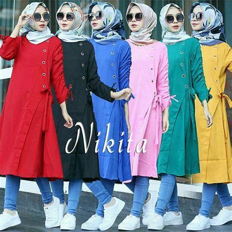 Blouse Katun Sabrina Import Fashion Wanitacewek 4 atasan cewek baju kemeja murah magnum blouse blue bhn katun salur to fit xl ld 112 pj 70 kc