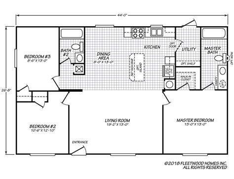 fleetwood homes floor plans broadmore 28443b fleetwood homes
