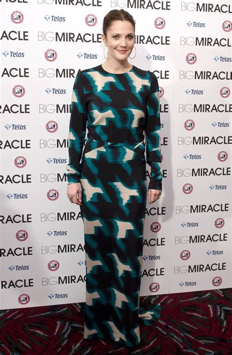 The Miracle Drew Barrymore Or Not Drew Barrymore S Printed Maxi Dress