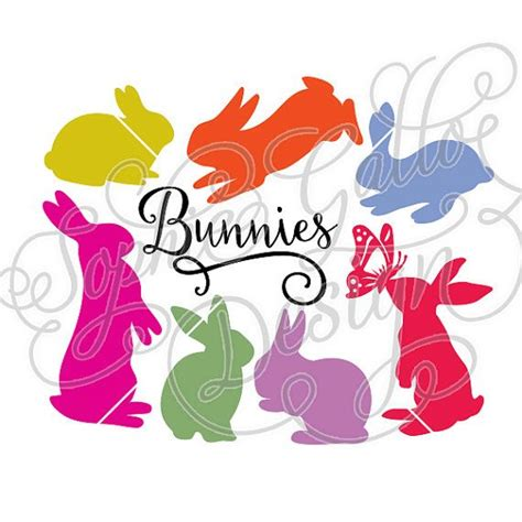 printing on vinyl with cricut bunnies set svg dxf file for cricut silhouette vinyl