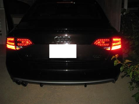 depo no error 09 11 audi a4 b8 s4 look red clear led tail