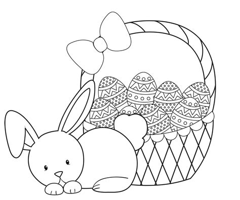 coloring pages easter bunny eggs easter coloring pages for kids crazy little projects