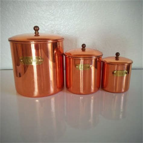 copper canisters kettle pots nesting vintage country kitchen best copper canister set products on wanelo