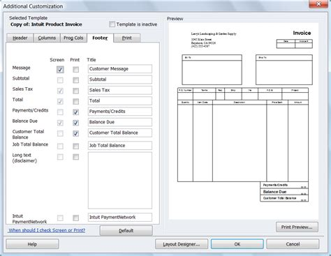 quickbooks receipt printer template quickbooks invoice template free printable invoice