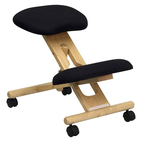 flash furniture wooden ergonomic kneeling posture office