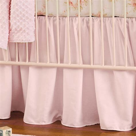 baby crib bedding solid pink crib gathered skirt