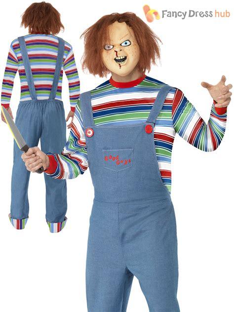 horror themed clothing uk adult ladies mens chucky costume halloween fancy dress