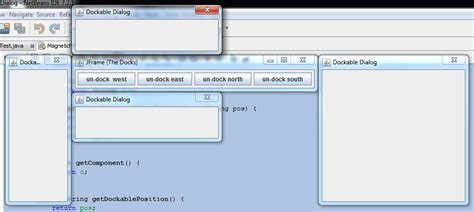 java layout toolbar java magnetic effect to attach window dialog or frame to