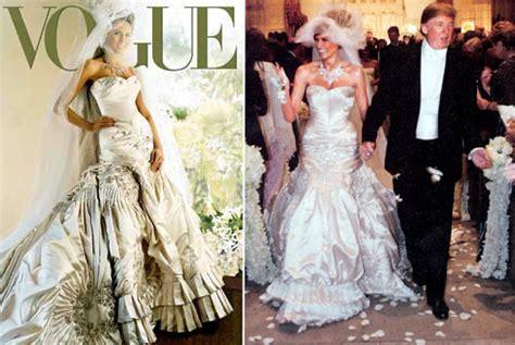 outrageous celeb wedding dresses