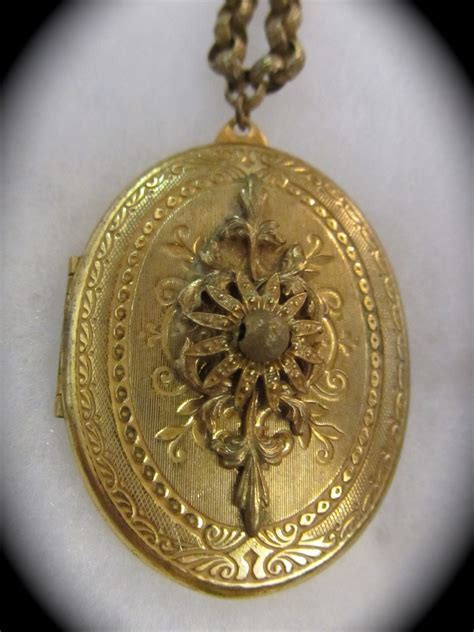 Miriam Haskell Locket Necklace   Yesterday's Treasures