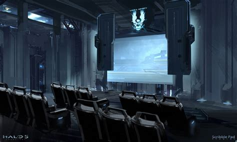 design concept experience halo hololens e3 experience screening room concept